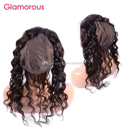 Discount 360 lace frontal with cap Glamorous Malaysian Natural Wave Hair 360 Lace Frontal Cheap Human Hair Round Lace Closure with Cap Peruvian Indian Brazilian Hair Frontal