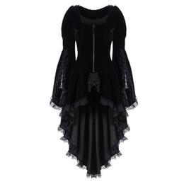 $enCountryForm.capitalKeyWord Australia - Women Vintage Long-sleeved waist Back Bandage Lace Stitching blazer ladies formal occasion Tuxedo suit solid NEW HOT elegant