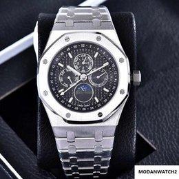 Ingrosso 2019 LUSSO Banda meccanici automatici Uomo da polso orologi Osservare Reale Multifunzione vigilanza degli uomini speciali in acciaio inossidabile