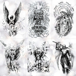 Wing Holy Angel Étanche Autocollant De Tatouage Temporaire Brave Chevalier Guerrier Flash Tatouages ​​Body Art Bras Faux Tatoo T190711