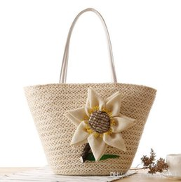 $enCountryForm.capitalKeyWord Australia - Factory wholesale brand new fashion hand woven bags beach bag summer Straw Beach Bag hand woven sunflower woman single shoulder bag