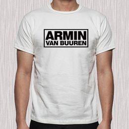 $enCountryForm.capitalKeyWord UK - ARMIN VAN BUUREN Famous Disk Jockey Logo Men's White T-Shirt Size S to 3XL
