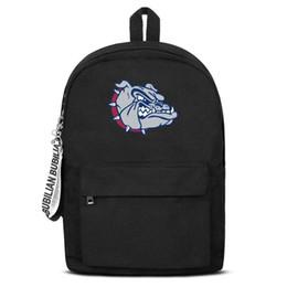 $enCountryForm.capitalKeyWord UK - Unisex high quality nylon Backpack Gonzaga Bulldogs Basketball logo design convenient Laptop Backpack Bookbag free shipping