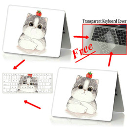 11 books NZ - Cute cartoon Cat Full Protective Laptop Case For Apple Macbook Air Pro Retina 11 12 13 15 Mac Book 15.4 13.3 inch Touch Bar + Keypad Cover