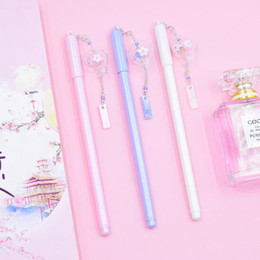 kawaii pens NZ - 1pc Gel Pen 0.5mm Pens Kawaii Wind Chimes Pendant Neutral Pens For School Girls Gift Writing Office Supplies Stationery Novelty HK0563
