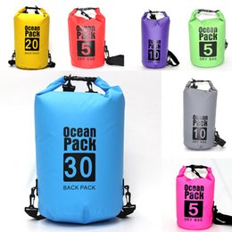 storage dry box Australia - Waterproof Dry Bag Backpack For Outdoor Sports PVC Mesh Dry Sack Storage Swimming Bag Waterproof Backpack Large Capacity Hiking Diving M241Y