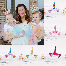 Cosplay party deCorations online shopping - Kids Unicorn Hair Sticks Girls Cartoon Headbands Lovely Cute Beautifull Party Cosplay Hairdress Decoration Style HHA570