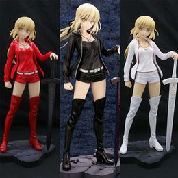 Fate Stay Night Saber Figure Australia - Fate Grand Order 24cm Saber FATE The Holy Grail War Fate Stay Night PVC Action Figures Toys Anime figure Toys For Kids Children