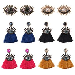 $enCountryForm.capitalKeyWord Australia - Lady Bohemian Women Eyes Fringed Drop Earrings For Women Mix Color Brand Design Wedding Tassel Earrings Jewelry Gift Bijoux