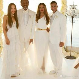 $enCountryForm.capitalKeyWord Australia - Latest Designs Men Ivory Suits for Wedding Groom Tuxedo Man Blazer Slim Fit trajes de hombre Costume Homme 2Piece(Coat+Pants)Terno Masculino
