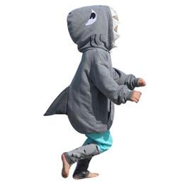 a1fa6c6c7 2018 recién llegado de alta calidad niño niño bebé niña niño 3D sudadera  con capucha de dibujos animados tiburón camiseta Tops + pantalones conjunto  de ropa ...