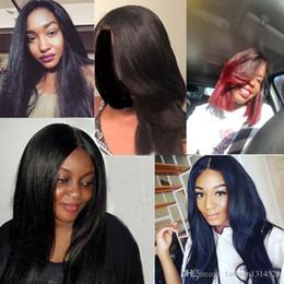 $enCountryForm.capitalKeyWord Australia - Quality Wigs Pretty Human Hair Malaysian Virgin Hair Bundles Yaki Straight Natural Black Can By 3 or 4 Piece For Full Head
