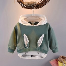 green rabbit cartoon Australia - 2019 Spring Autumn Children Baby Babi Kids Boys girls Long Sleeve cartoon cute Rabbit Hat Hooded Sweatshirts Outwear Coats T190917