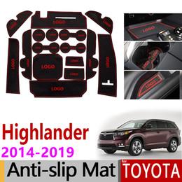 $enCountryForm.capitalKeyWord Australia - Anti-Slip Gate Slot Mat Rubber Coaster for Toyota Highlander 2014 2015 2016 2017 2018 2019 XU50 Kluger Accessories Car Stickers
