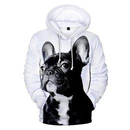 Men's Clothing 3d Cute Cartoon French Bulldog Fashion Men Women Zipper Hoodies Jacket Casual Long Sleeve Zip Up 3d Hooded Sweatshirt Tracksuits