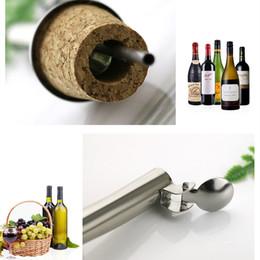 Oil pOurer bOttles online shopping - hot Wooden Cork Red wine Stoppers Pourer Oil Champagne Beer Bottle Stopper Plug Wine tasting Tools Pourers Wedding Birthday BarwareT2I5439