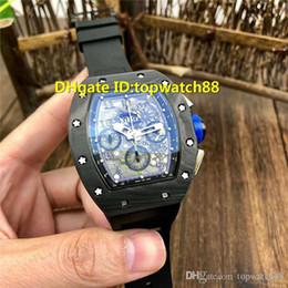 $enCountryForm.capitalKeyWord Australia - New 011 wristwatches Multifunction Swiss 7750 Automatic Chronograph Sapphire Crystal NTPT Carbon Fiber Blue crown Rubber Strap Men Watch