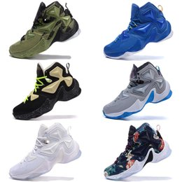 87aba73b63b New Arrival Lebron 13 Basketball Shoes for High quality Black White Red  Purple Splitl Kids Men Training Sneakers Outdoors shoes