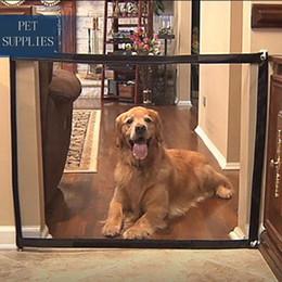 safety gates 2019 - Pet Barrier Portable Folding Breathable Mesh Net Dog Separation Guard Gate Pet Isolated Fence Enclosure Dog Safety Suppl