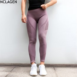 Hole Leggings Hollow Australia - Nclagen Women Diagonal Lines Hole Hollow Out Booty Sexy Slim Capris Spandex Fitness Workout Pant Quick Drying Butt Reds Leggings Q190401