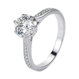 $enCountryForm.capitalKeyWord UK - Wholesale Women's 925 Sterling Silver Rings Fashion Luxury Diamond Rings Bridal Platinum Rings Hip Hop Style Jewelry Necklaces
