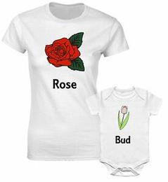 $enCountryForm.capitalKeyWord Australia - Rose Bud Beautiful Flower Mum Mummy Mother Daughter Family Matching T shirts