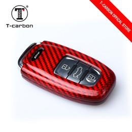 $enCountryForm.capitalKeyWord Australia - For Audi A4 A5 A6 A7 A8 Q3 Q5 Real Carbon Fiber Car Smart Remote Key Shell Cover Fob Holder Auto Key Protective Case Accessories