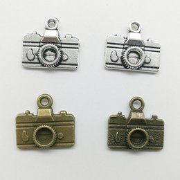 Mini necklace caMera online shopping - 50pcs Mini Camera Alloy Charms Pendant Retro Jewelry Making DIY Keychain Ancient Silver Pendant For Bracelet Earrings Necklace mm