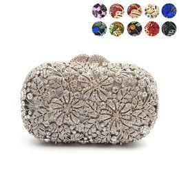 $enCountryForm.capitalKeyWord NZ - Women evening party bag diamonds elegant crystal clutch luxury bridal wedding party wallet purse handbag flower crystal purses