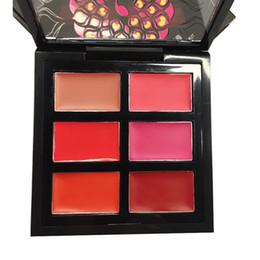 Lipstick Lasts Australia - 6 Colors Matte Nude Lipstick Plate Palette Lips Long Lasting Lipstick with Brush Makeup Set Cosmetic lipstick palette