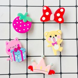 $enCountryForm.capitalKeyWord UK - Children Cute Cartoon Hair Accessory strawberry Butterfly Bear crown Kids Hair Clip Candy Color Girls Princess Hair Pinch Y1935