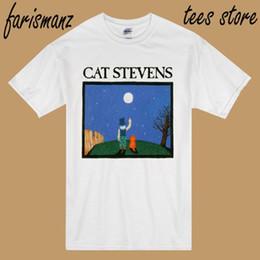 Опт New Cat Stevens * Альбом Music Legend Icon мужская белая футболка Размер S до 3XL 2019 Лето Новая модная марка футболка сплошной цвет