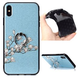 Iphone 5s Finger Australia - Slim Glitter Orchid Finger Ring KicksCase For iPhone XS Max XR X 8 8 Plus 7 7Plus 6 6S 6 Plus 5 5S