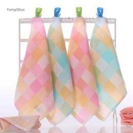 Small Cotton Handkerchief Australia - 1PC Single Small Square Soft Cute Baby Towel Handkerchief for Infant Kid Children Feeding Bathing Face Washing