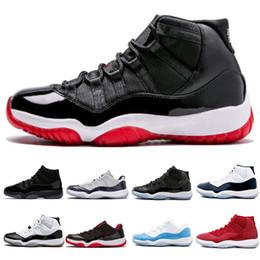 quality design b951f c6789 Nike Air Jordan 11 11 Mens 11s Concord Numéro 45 23 Chaussures de  basketball Teinte platine Prom Night femmes formateurs de baskets de sport  taille sneaker ...