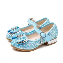 shoes for boys years 2019 - Fashion Bow Girl PU Leather Shoes For Girls Party Dance Children Shoes 3-12 Years Princess High Heels Child Wedding Part