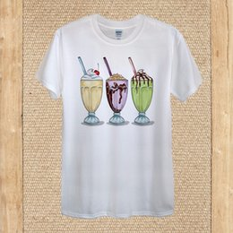 $enCountryForm.capitalKeyWord Canada - Details zu Ice Cream Milkshake Glasses Drinking T-shirt Design quality Cotton unisex women Funny free shipping Unisex Casual Tshirt top