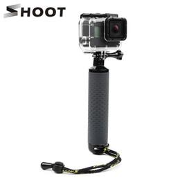 Discount 4k gopro - SHOOT Waterproof Floating Hand Grip Antislip Sport Floaty Bobber for GoPro Hero 7 6 5 4 Sjcam Yi Lite 4K Action Camera A