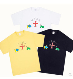 China Hiphop Streetwear NOAH Skateboards Cartoon Frog Cotton Short Sleeve T-shirt Mens women Tee Clothes Tops Free Shipping supplier frog clothing suppliers