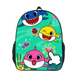 BaBy 3d online shopping - 8 Styles Baby Shark Backpack Cartoon D Animal Baby Shark School Bags Messenger Bag Shark Shoulder Bags Party Favor CCA11316