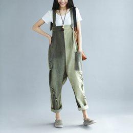 Texiwas Plus Size Harem Denim Jeans Pants Women Autumn Bib Pants Overalls Straps Jumpsuits Vogue Loose Pocket Denim Pants Female Women's Clothing