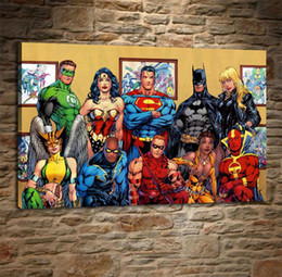 Team Painting Australia - Justice League Team,Home Decor HD Printed Modern Art Painting on Canvas (Unframed Framed)