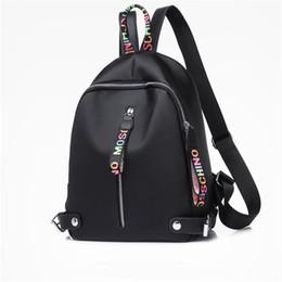 Venta al por mayor de Mochila de diseño Para mujeres niñas Mochilas de nylon de gran capacidad con Negro Blanco Rosa 3 colores de alta calidad Volver paquete Envío de la gota