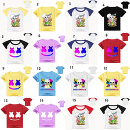 T shirT prinTing for babies online shopping - 50 styles DJ marshmello baby T shirt Summer Print shorts Sleeve O Neck Tees for children Tops Kids Clothing C6176