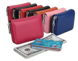 $enCountryForm.capitalKeyWord NZ - Genuine Leather Card Holders organ card package Anti RFID multi-function bus credit card sets Case Wallet Business