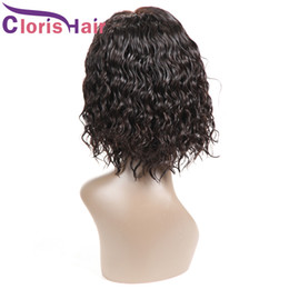 short natural curly hair cuts 2019 - Fashion Curly Bob Wig Brazilian Human Hair Short Pixie Cut Lace Front Wigs For Black Women Pre Plucked Deep Wave Glueles