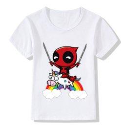 $enCountryForm.capitalKeyWord UK - 2018 Deadpool Superhero Funny Children T-Shirts Summer Tops Short Sleeve Boys Girls Clothes Cute Unicorn Baby Kids Tees,ooo2237