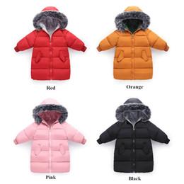 Parkas For Winter Australia - good quality Winter Jacket for Girls Coat Cotton Down Baby Kids Zipper Faux Fur Hooded Warm Parkas Windbreak Kids Outerwear
