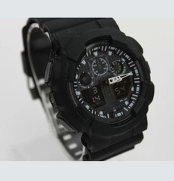 wholesales g shock watches Australia - 10PCS Hot Sale Smart Watch Men G Style Military Army Waterproof Shock Sports Watches Auto Light LED Fashion Relojes Rubber Male Clock GG100