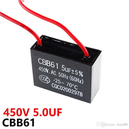 fans capacitors UK - CBB61 450VAC 5UF fan starting capacitor lead length 10cm with line